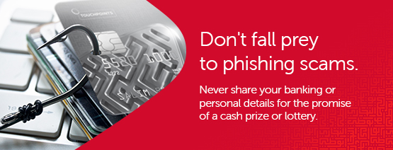 Be wary of messages claiming you won a cash prize or lottery.