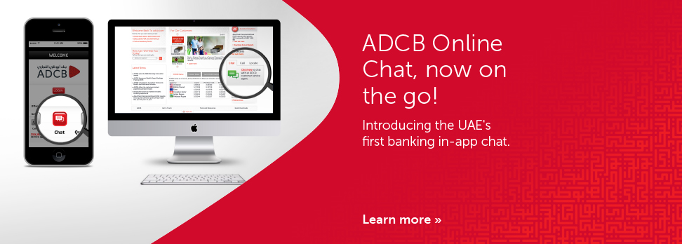 ADCB Mobile App Chat Banner